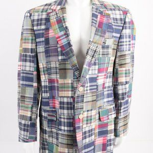 Jos. A Bank Blazer Suit Jacket Indian Madras plaid